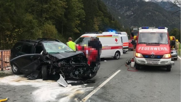 Die Unfallstelle (Bild: FF Saalfelden)