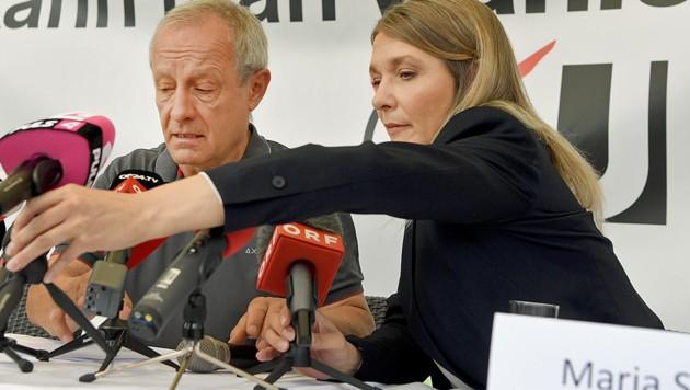 Spitzenkandidat Peter Pilz und Parteichefin Maria Stern haben nicht genügend Wählerstimmen sammeln können. (Bild: APA/ROLAND SCHLAGER)