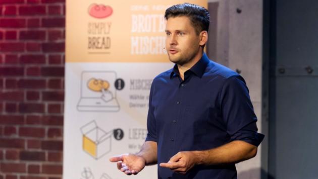 Florian Hoffmann gründete Simply Bread im März 2017. (Bild: 2 Minuten 2 Millionen/Gerry Frank Photography)