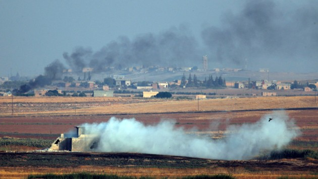 Türkische Kampfjet haben Kurden in Nordsyrien bombardiert (Bild: AP)