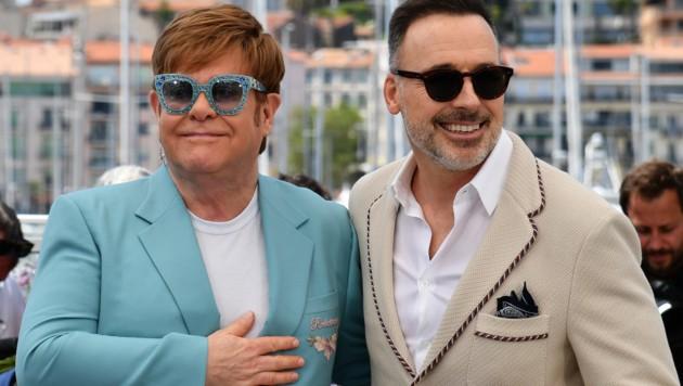 Elton John und David Furnish (Bild: AFP)