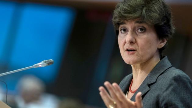 Sylvie Goulard konnte die Bedenken der Abgeordneten nicht entkräften. (Bild: AFP)