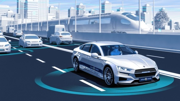 """Noch Zukunftsmusik: ein """"Roboterauto"""" im Stadtverkehr (Bild: Virtual Vehicle)"""