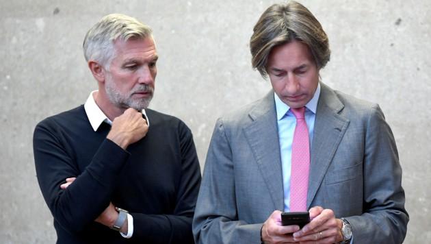 Die Angeklagten Karl-Heinz Grasser und Walter Meischberger stehen schon seit 114 Tagen vor Gericht. (Bild: APA/ROLAND SCHLAGER / APA-POOL)