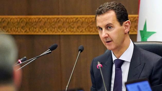 "Syriens Präsident Bashar al-Assad betrachtet die Kurden als ""Verräter"". (Bild: APA/AFP/SANA)"