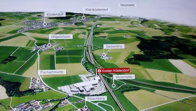 Das Milliarden-Projekt im Flachgau wird auch weiterhin zu heftigen Diskussionen führen (Bild: Tschepp)