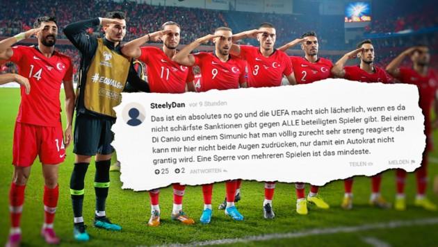 Bildergebnis für das türkische fußball team salutiert