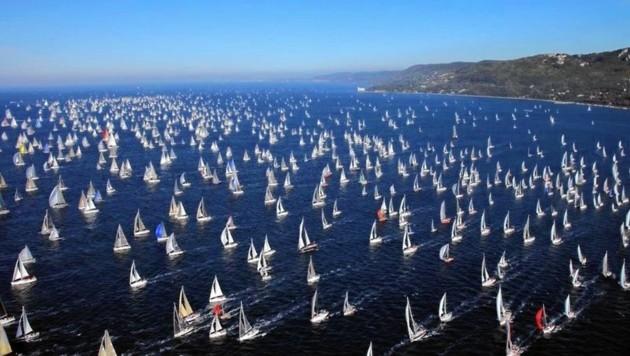 """Beim """"Ocean Race"""" legen die Segler rund 45.000 Seemeilen zurück. (Bild: .discover-trieste)"""