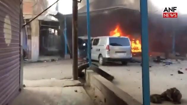 Dieser Konvoi von Journalisten soll von türkischen Bomben getroffen wurden sein. (Bild: twitter.com/ITCTofficial)