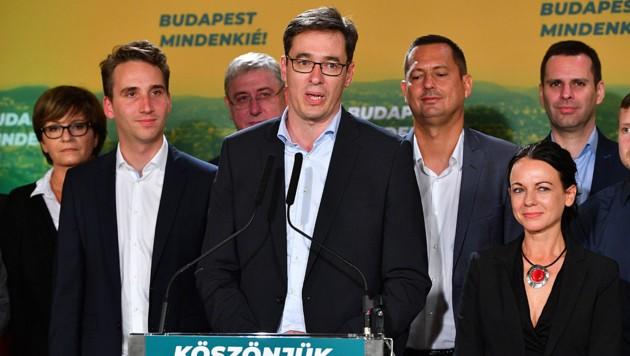 Oppositionskandidat Gergely Karacsony wird Bürgermeister in Budapest. (Bild: AFP/Attila Kisbenedek)