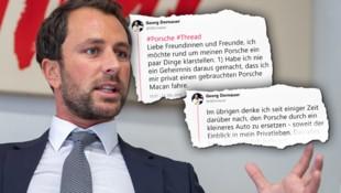 Tirols SPÖ-Chef Georg Dornauer (Bild: APA/EXPA/JOHANN GRODER, twitter.com, krone.at-Grafik)