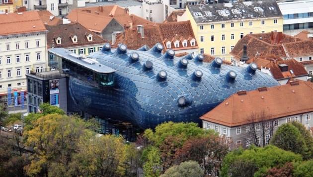 Das Grazer Kunsthaus (Bild: Kronenzeitung)