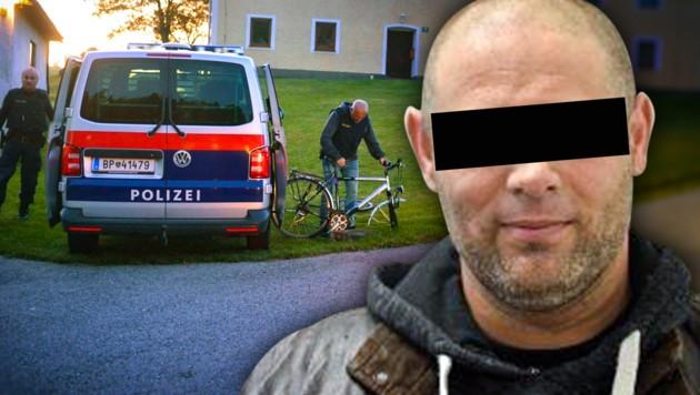 Der Tatverdächtige (Bild: APA/LAUMAT.AT/MARIO KIENBERGER, LPD OÖ, krone.at-Grafik)
