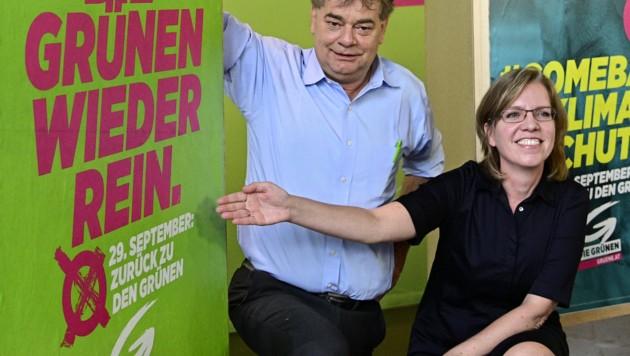 Werner Kogler und Leonore Gewessler (Bild: APA/HANS PUNZ)