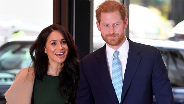 Prinz Harry und Herzogin Meghan bei ihrer Ankunft bei den WellChild Awards 2019 in London (Bild: AFP)