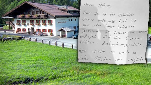 (Bild: facebook.com/Gasthof Hotel Eiserne Hand, Michael R., krone.at-Grafik)