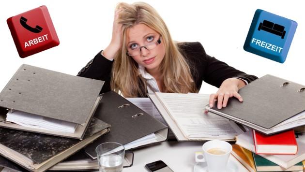 Stress und Hektik am Arbeitsplatz, das kommt häufig vor: Zu Hause sollte man aber abschalten können und die Freizeit genießen. (Bild: stock.adobe.com)