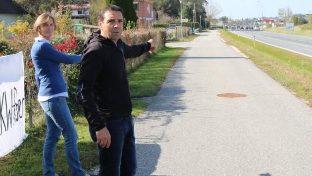 Diese Straße wird von Rasern als Ausweichstrecke genutzt. (Bild: Fischer Claudia)