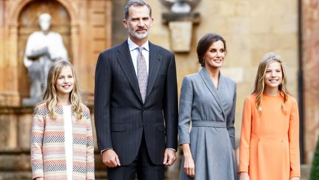 Kronprinzessin Leonor, König Felipe, Königin Letizia, Prinzessin Sofia (Bild: www.PPS.at)