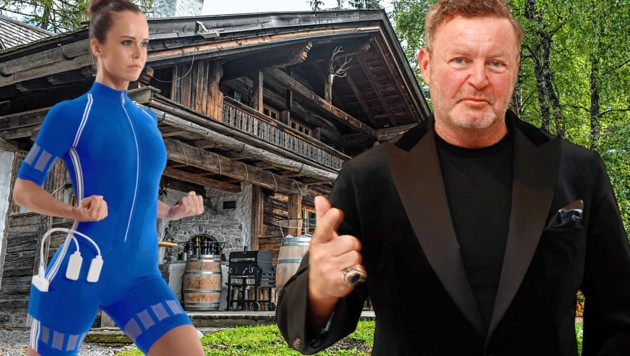 Multi-Unternehmer Christian Jäger (re.) will eine Weltmarke schaffen. (Bild: Unternehmensgruppe Jäger, Zwefo, krone.at-Grafik)