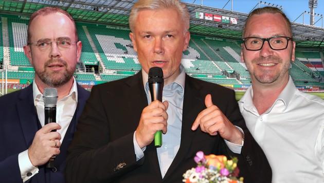 Martin Bruckner, Robert Grüneis und Roland Schmid (von links) (Bild: GEPA, krone.a-Grafik)