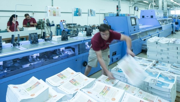 Samson Druck verarbeitet jährlich rund 7000 Tonnen Papier (Bild: Samson Druck)