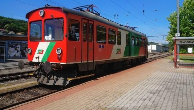 Die Regionalbahn am Bahnhof von Bad Gleichenberg (Bild: Jakob Traby)