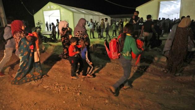 Der türkische Einmarsch in Nordsyrien hat Tausende Menschen in die Flucht getrieben. (Bild: AFP)