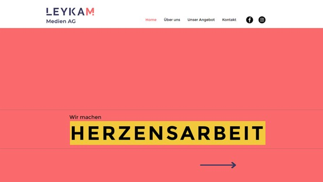 """Leycam-Website: """"Wir machen Kampagnen, wir machen Herzensarbeit, wir machen Wertvolles."""" (Bild: Screenshot/leykam.com)"""