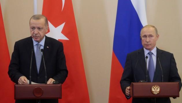 Die Präsidenten Erdogan und Putin (Bild: AFP)