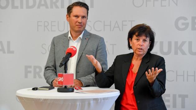Georg Brockmeyer (Landesgeschäftsführer SPÖ OÖ) mit SPÖ-Vorsitzender Landesrätin Birgit Gerstorfer (Bild: © Harald Dostal)