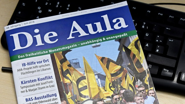 """Nach viel Kritik wurde """"Die Aula"""" eingestellt. Mehr als ein Jahr später kam sie unter einem neuen Namen wieder am Markt - für eine Ausgabe. (Bild: APA/HANS PUNZ)"""