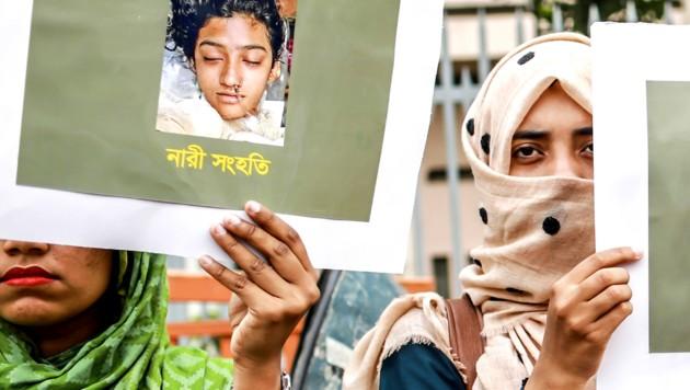 Nusrat Jahan Rafis Mörder wurden zum Tode verurteilt. (Bild: AFP)