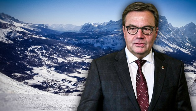 Tirols Landeshauptmann Günther Platter (ÖVP) (Bild: APA, stock.adobe.com, krone.at-Grafik)