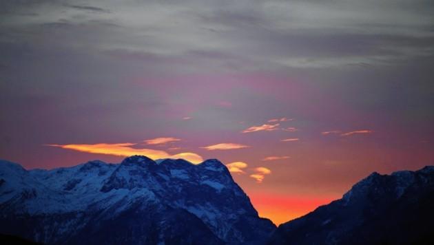 Der Himmel über dem Tennengebirge. (Bild: BARBARA GINDL / APA / picturedesk.com)