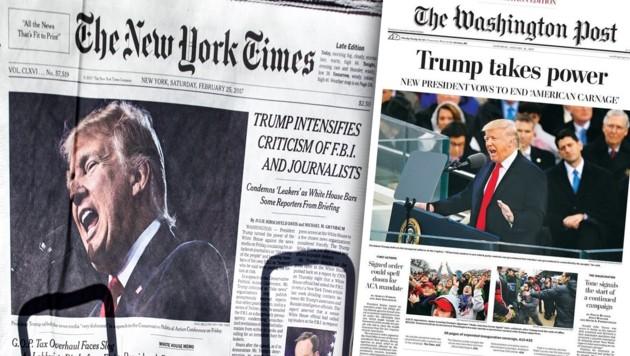 "(Bild: ""New York Times"", ""Washington Post"", krone.at-Grafik)"
