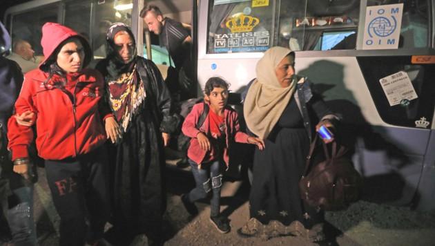 Syrische Flüchtlinge im Camp Bardarash nahe der kurdischen Stadt Dohuk (Bild: AFP)