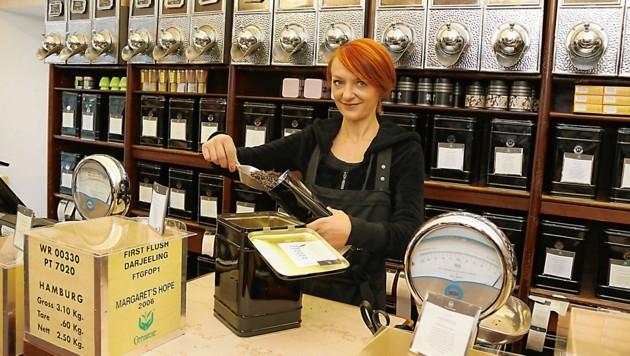 300 Tee- und 50 Kaffeesorten werden im Grazer Betrieb sowie online geführt. (Bild: Christian Jauschowetz)