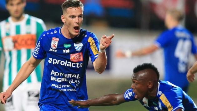 Felix Luckeneder bleibt im blauen Dress des TSV Hartberg. (Bild: GEPA )
