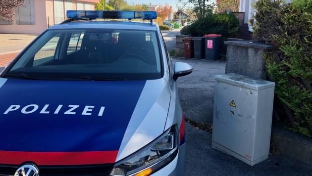 Ein Polizeiauto vor dem Tatort in Kottingbrunn (Bild: APA/MONATSREVUE/THOMAS LENGER)
