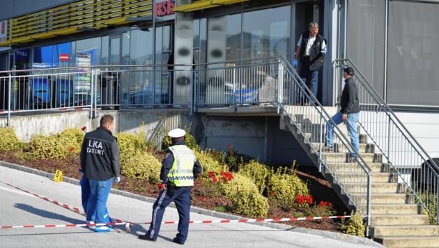 Am Freitag sprengte eine Bande den Bankomat in Wolfsberg - die Polizei ermittelt auch Hochtouren. (Bild: Bachhiesl Georg Franz)