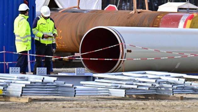 Bauarbeiten an der Pipeline (Bild: AFP)