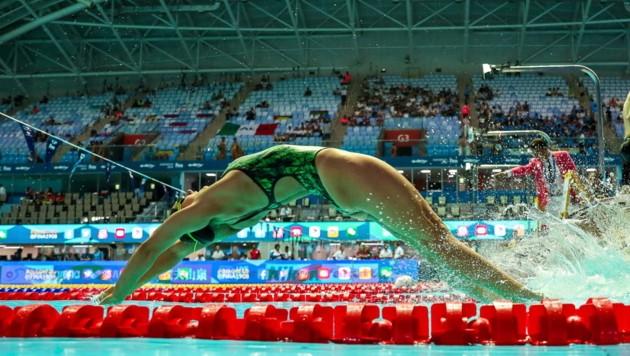 Einen Geldregen gibt's für Grazer Sportler wie Schwimm-Ass Caro Pilhatsch. (Bild: GEPA pictures)