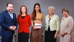 Von links: Christoph Haselmayer, Ewa Ernst-Dziedzic, Katia Wagner, Maria Rauch-Kallat, Ursula Stenzel (Bild: Zwefo)