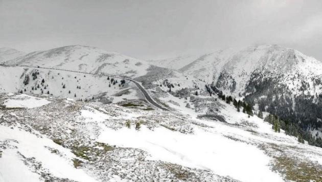 Die Nockalmstraße erstrahlte am Mittwoch in winterlichem Glanz. (Bild: Bergfex)