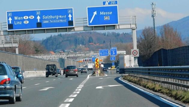 A1 bei Salzburg (Bild: Markus Tschepp)