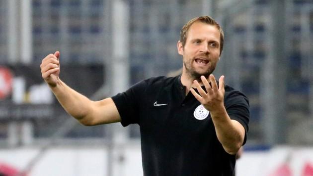 Liefering-Trainer Bo Svensson kann trotz eines Coronafalls das Training wie geplant fortsetzen. (Bild: Andreas Tröster/Kronen Zeitung)
