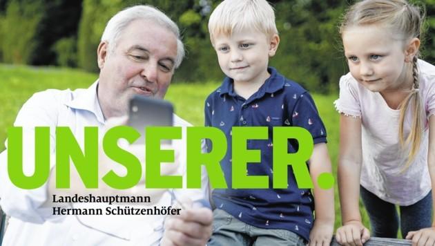 Wahlplakat der ÖVP Steiermark mit Hermann Schützenhöfer (Bild: STVP)