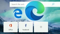 Beim Wechsel auf den Chromium-Unterbau von Google Chrome hat Microsoft beim Edge-Browser das Logo ausgetauscht. (Bild: Microsoft )