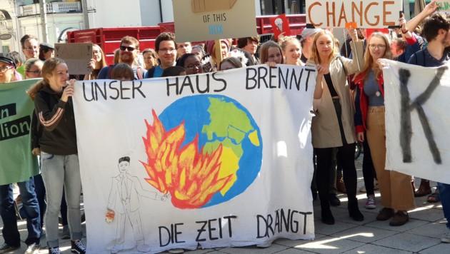 """Kundgebung der Plattform """"Fridays for Future"""" in Österreich (Bild: APA/APA/KERSTIN SCHELLER)"""